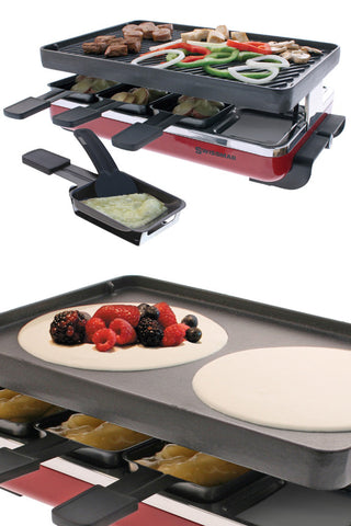 8 Person Cast Iron Raclette Grill