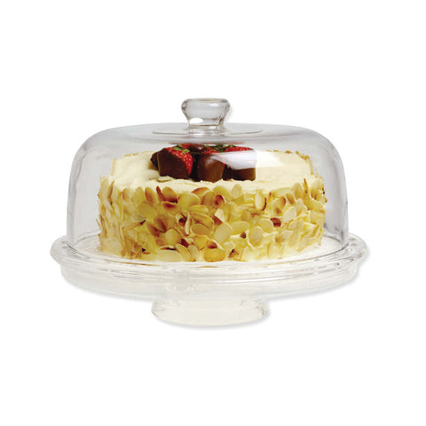 Better Chef Clear Cake Plate and Dome
