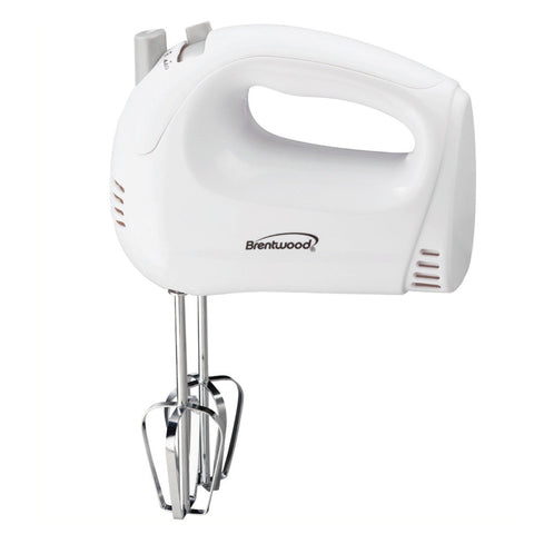 Brentwood 5-Speed Hand Mixer (White)