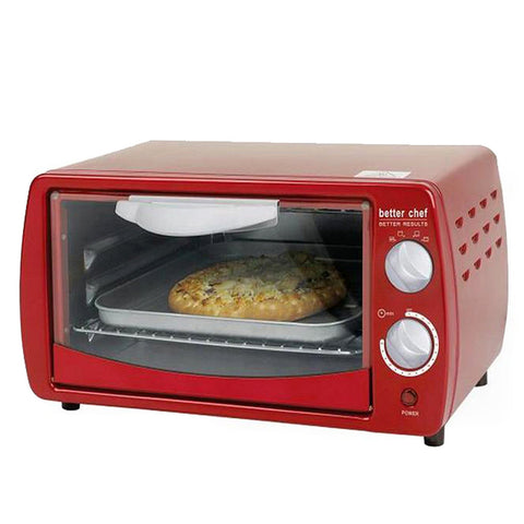Better Chef Classic Red 9-liter Toaster Oven