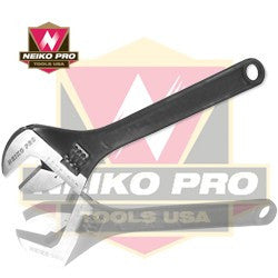 "NEIKO PRO 10"" CrV Black Adjustable Wrenches"