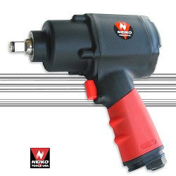 "NEIKO 1/2""dr. Twin Hammer Impact Wrench, Short Shank, Composite/Aluminum"