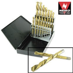 15pc. NEIKO Left-Hand Drill Bit Set
