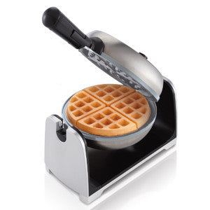 Oster DuraCeramic Flip Waffle Maker- Silver Stainless Steel