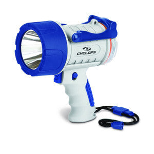 Cyclops 300 Lumen Rechargeable Waterproof Spotlight - Marine