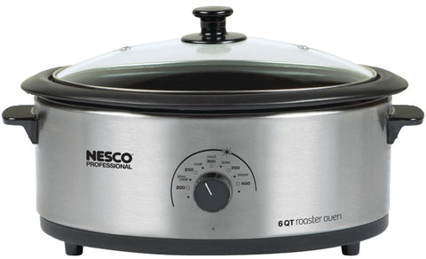 6-quart-nonstick-roaster-oven-stainless-steel