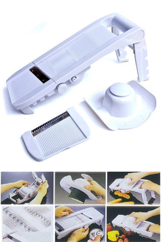 Deluxe Mandoline Slicer With Waffle Blade