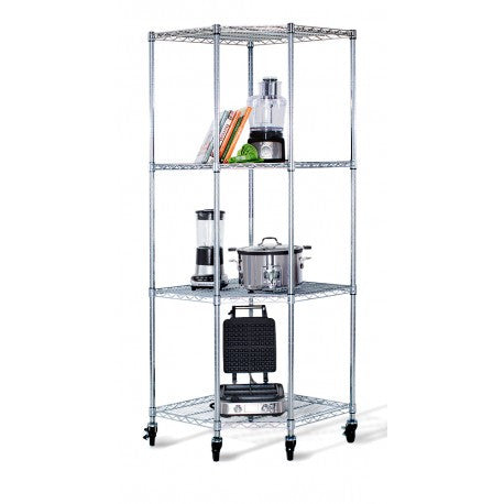 "TRINITY ECOSTORAGE™ 4-TIER CORNER WIRE SHELVING RACK | 18""D 