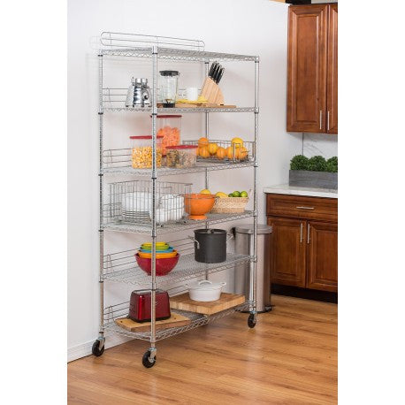 "TRINITY 6-TIER WIRE SHELVING RACK | 48"" X 18"" X 72"" 