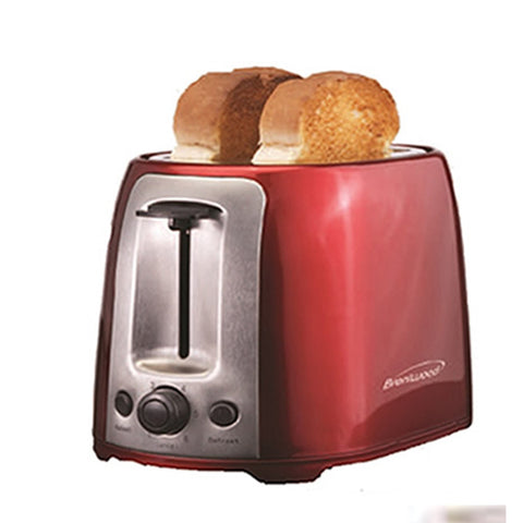Brentwood 2 Slice Cool Touch Toaster ; Red and Stainless Steel