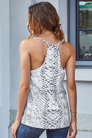 Animal Print Racer Back Tank