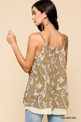 Paisley Golden Tank
