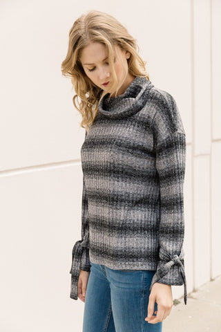 Grey Funnel Neck Sweater