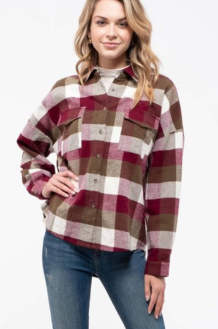 Plaid Fleece Lined Top