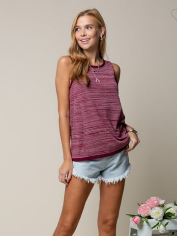 Burgundy summer top