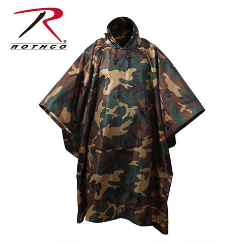 "ROTHCO Enhanced Rip-Stop Poncho (56""x90"") use as emergency shelter also"