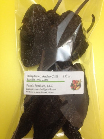 Dehydrated Ancho Chili -1.50 ounce - Whole
