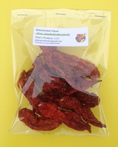 Dehydrated Ghost Pepper - .50 oz - Whole