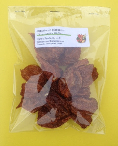 Dehydrated Habanero Pepper - Whole