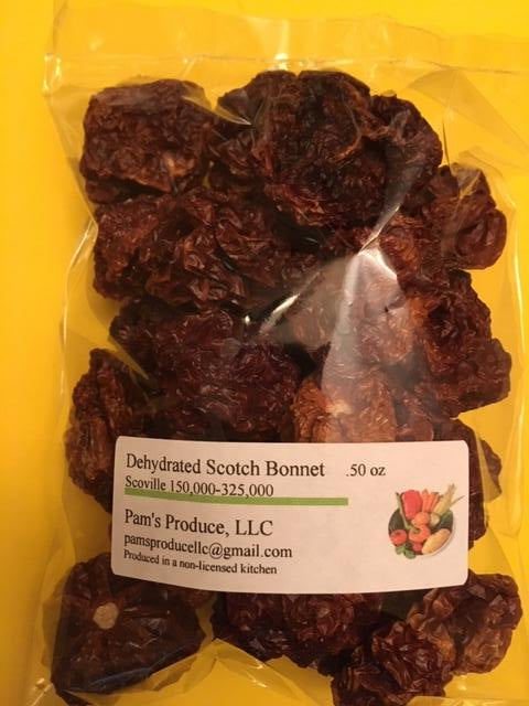 Dehydrated Scotch Bonnet - .50 oz - Whole