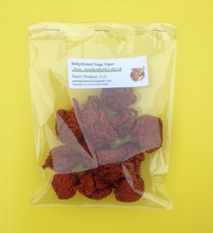 Dehydrated Naga Viper Pepper - .50 oz - Whole