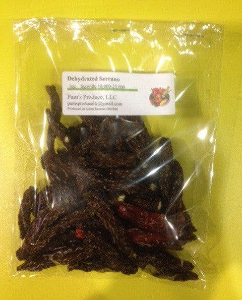 Dehydrated Serrano Pepper - 1 ounce - Whole