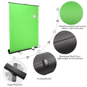 InstaHibit Green Screen Chromakey Backdrop Floorstanding 6.6 ft