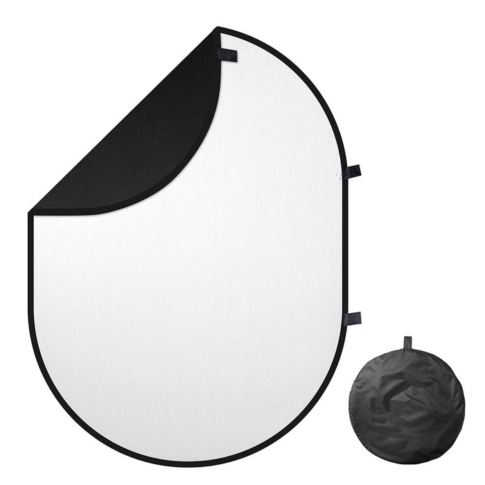 Yescom White-Black Chromakey Collapsible Reversible Background, 5'x6.5'