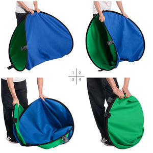 Yescom Blue-Green Chromakey Collapsible Background with Stand, 5'x7'