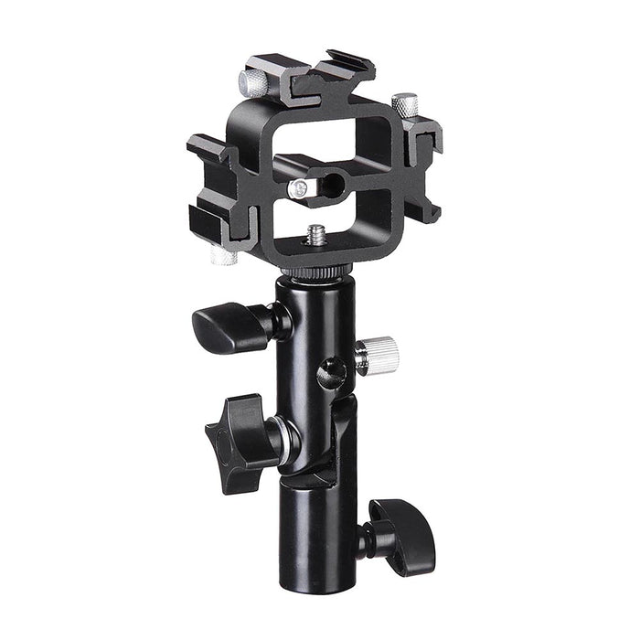 Yescom Camara Triple Hot Shoe Adapter Bounce Umbrella Holder