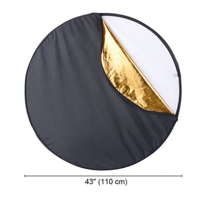 Yescom 5 in 1 Collapsible Light Reflector Panel Photography 43""