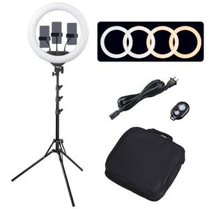 "Yescom Dec. 7 18"" Ring Light w/ Stand, Ball Head, Phone Holder Sociallight"