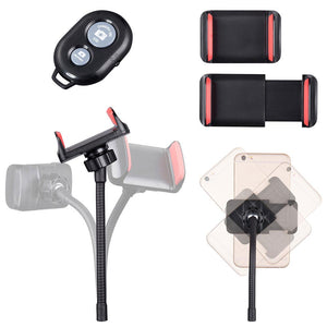 "Yescom 7"" Dual Ring Light RGB Selfie Mirror Phone Holder Remote"