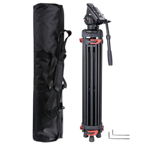 Yescom 71in Adjustable Camera Tripod Kit 3-Height 360 Fluid Head w/ Bag