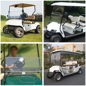Yescom Golf Clear Windshield Fold Down Acrylic for EZGO TXT 1995-2013