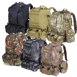 Waterproof 55L Hiking Backpack Rucksack Camping Color Opt