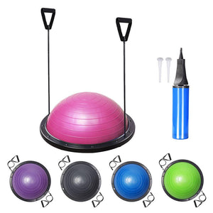 Yescom 58CM Fitness Yoga Half-Ball Balance Workout Trainer Color Options