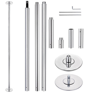 AW 12ft Spinning Static Dancing Pole Removable D45mm