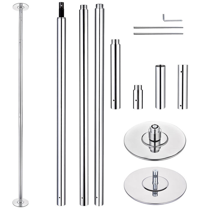AW 12ft Spinning Static Dancing Pole Removable D45mm (Preorder)