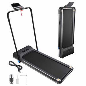 Yescom Ultra-thin Treadmill Electric Running Machine with Remote