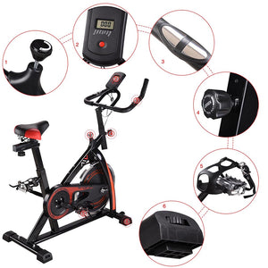 AW Indoor Cycling Workout Exercise Bike Black