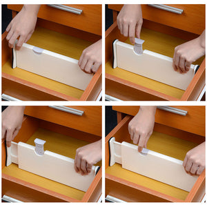 "Yescom Expandable Drawer Dividers 11-17""x4""H 2-Pack"