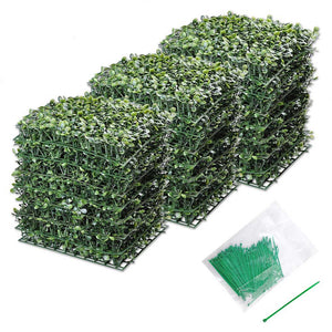 Yescom 24-Pack 10in x 10in Artificial Boxwood Hedge Privacy Fencing