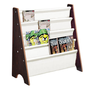 Yescom Kids Sling Bookshelf Book Storage Display Holder Walnut