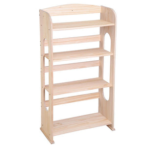 "4 Tier 41"" Hollow Core Wood Bookshelf Bookcase Color Options"