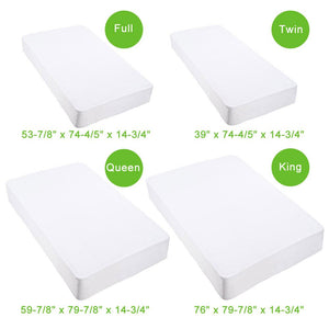 Yescom Waterproof Mattress Pad Protector Hypoallergenic Cover Size Opt
