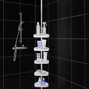 Yescom 5 Baskets 10 ft Bathtub Shower Tension Pole Caddy Corner Storage