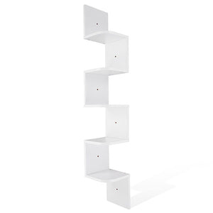 Yescom Wall Mount 5 Tiers Corner Storage Shelf Gradienter Color Opt