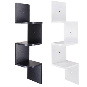 Yescom Wall Mount 3 Tiers Corner Storage Shelf Gradienter Color Opt
