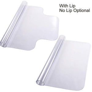 48x36 PVC Hard Wood Floor Protector Home Office Chair Mat Lip/ no Lip